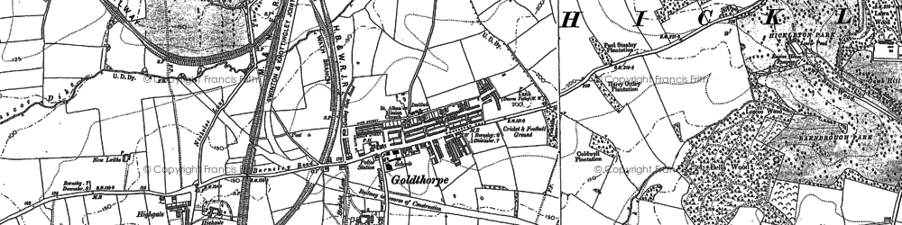 Old map of Thurnscoe East in 1890