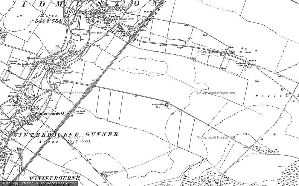 Old Map of Gomeldon, 1899 - 1923 in 1899
