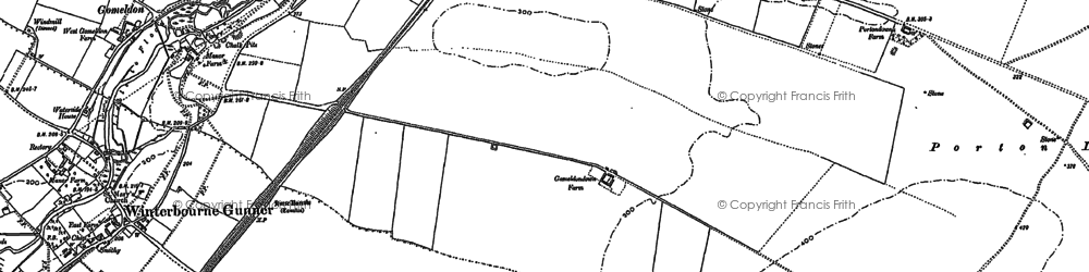 Old map of Gomeldon in 1899