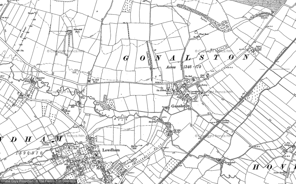 Old Map of Historic Map covering Wood Barn in 1883