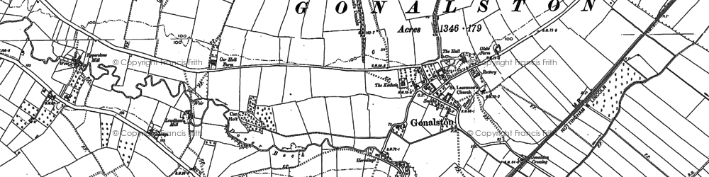 Old map of Wood Barn in 1883