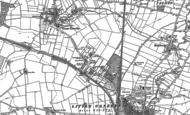 Old Map of Gonerby Hill Foot, 1886 - 1887