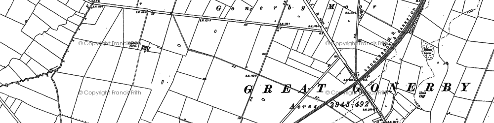 Old map of Willowtops Ho in 1887