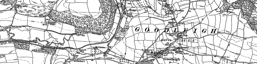 Old map of Goodleigh in 1885