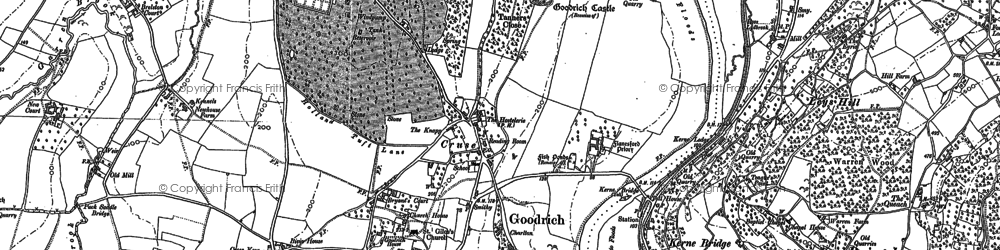 Old map of Goodrich in 1887
