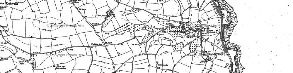 Old map of Goodrington in 1886