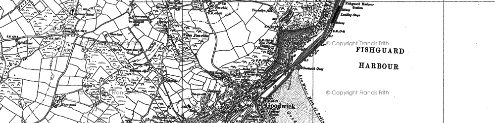 Old map of Goodwick in 1887