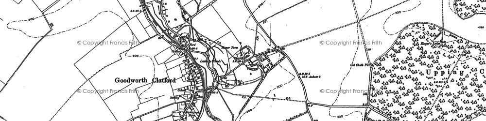Old map of Goodworth Clatford in 1894