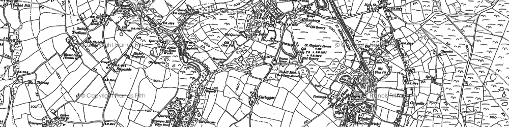 Old map of Goonabarn in 1879