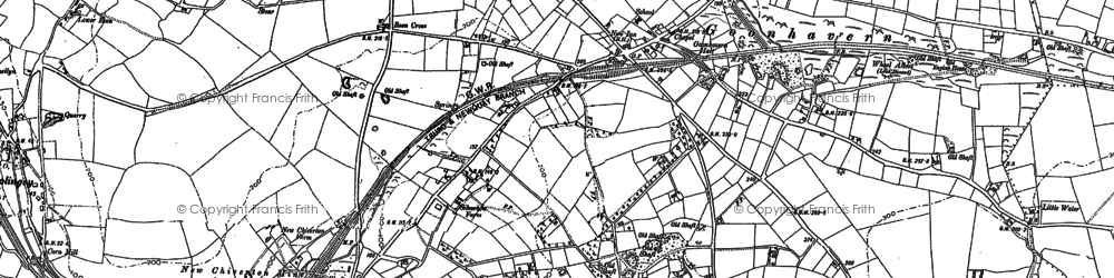 Old map of Goonhavern in 1906
