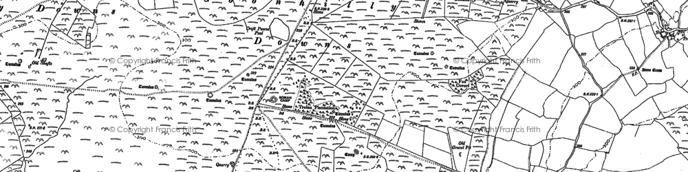 Old map of Leech Pool in 1906