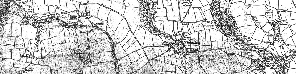 Old map of Gooseham in 1887