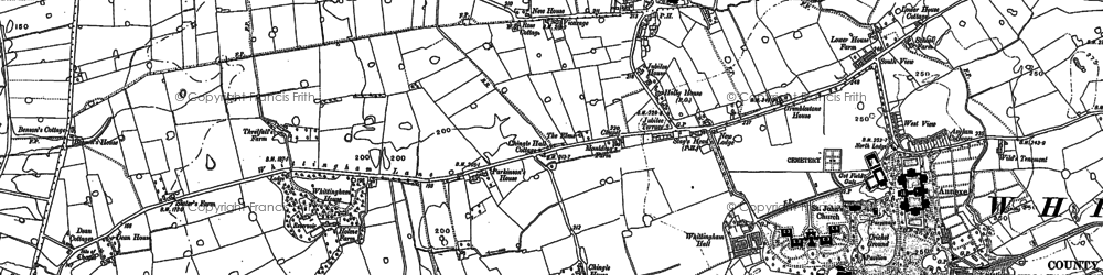 Old map of Westfield Brook in 1892