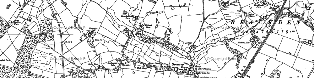 Old map of Goostrey in 1897