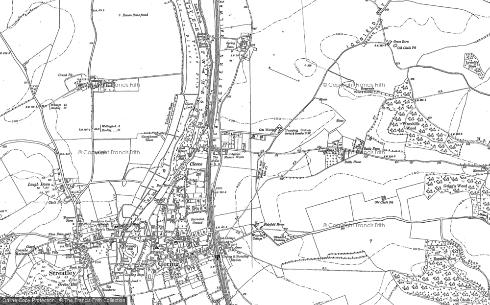 Old Map of Goring, 1910 - 1912 in 1910