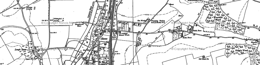 Old map of Goring in 1910