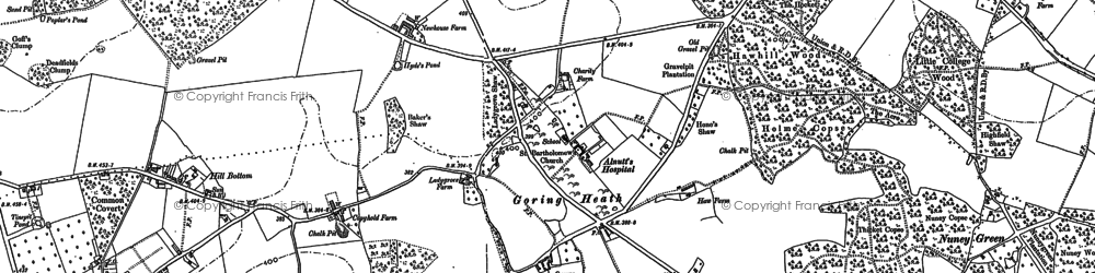 Old map of Almhouses, The in 1897