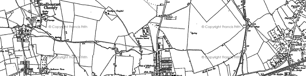 Old map of Gorse Hill in 1899