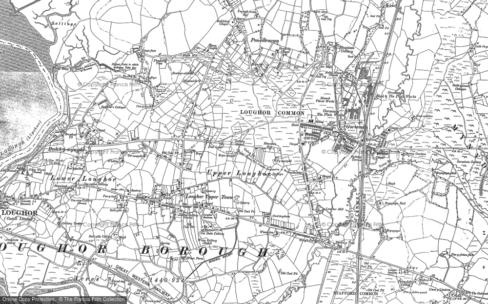 Old Map of Gorseinon, 1905 - 1914 in 1905