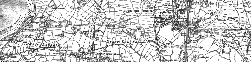 Old map of Gorseinon in 1905