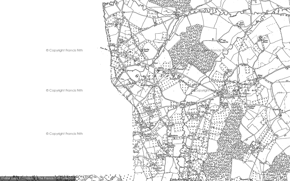 Old Map of Historic Map covering Linton Wood in 1903