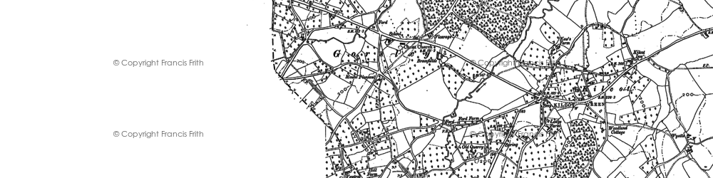 Old map of Linton Wood in 1903