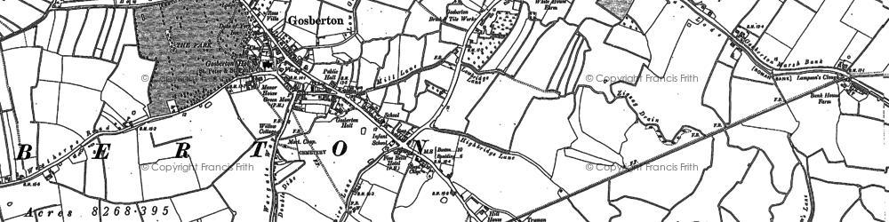 Old map of Westhorpe in 1887
