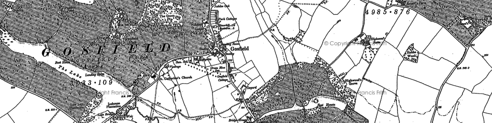 Old map of Whiteash Green in 1896