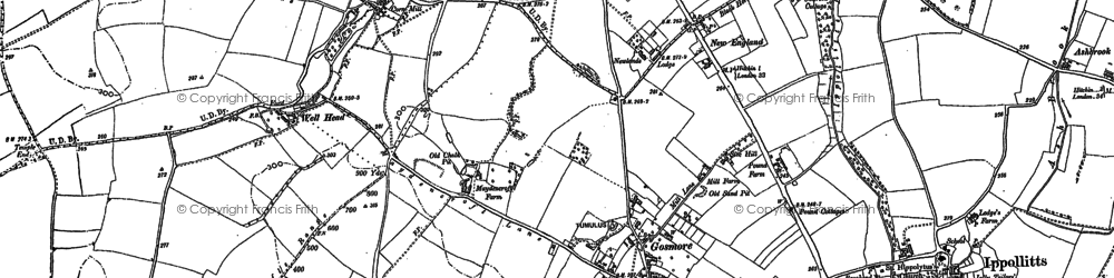 Old map of Gosmore in 1897