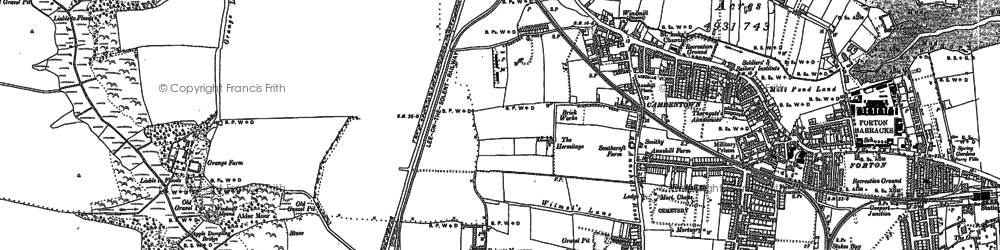 Old map of Gosport in 1907