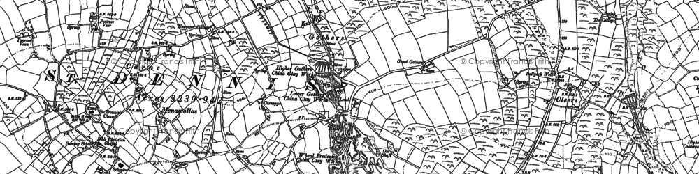 Old map of Gothers in 1879