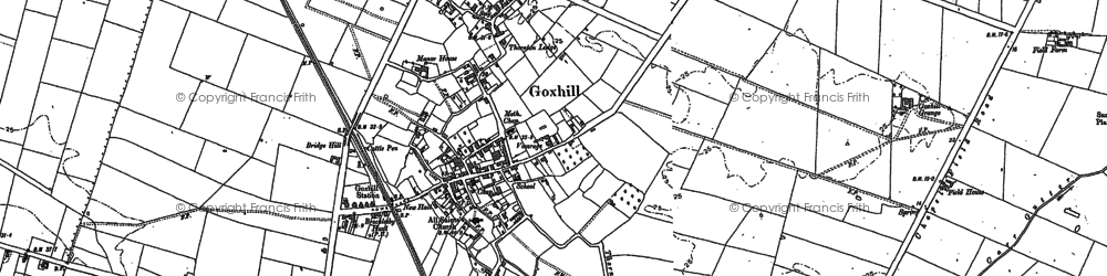 Old map of Goxhill in 1886