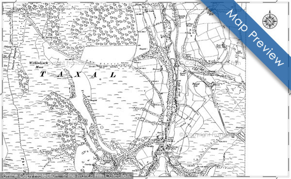 Old Map of Historic Map covering Fernilee in 1907