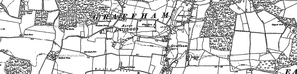 Old map of Graffham in 1896