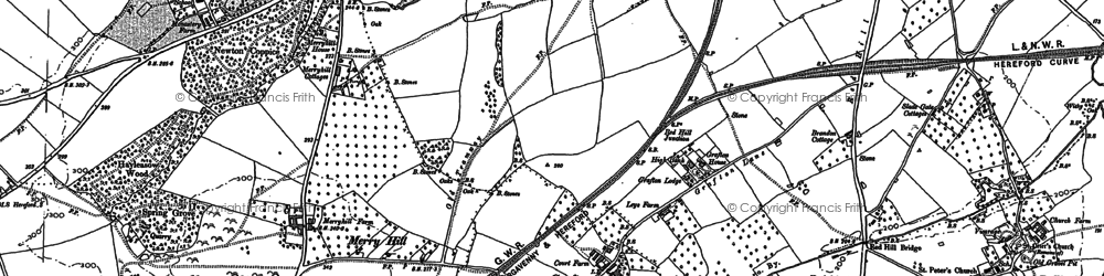 Old map of Grafton in 1886