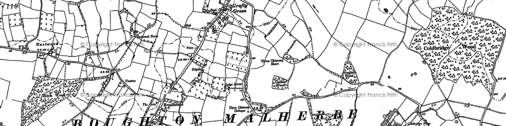 Old map of Woodsden in 1896