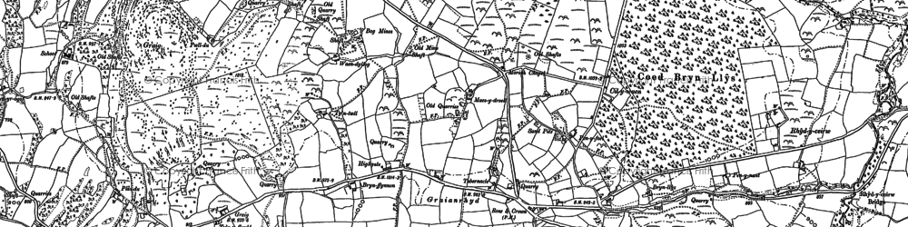 Old map of Aber Tairnant in 1910