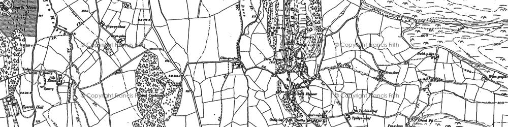 Old map of Graig-fechan in 1898