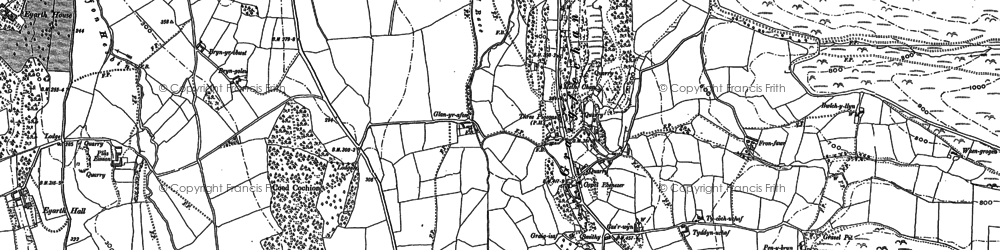 Old map of Pentre Côch in 1899