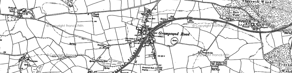 Old map of Grampound Road in 1879