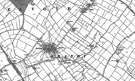 Old Map of Granby, 1883 - 1899