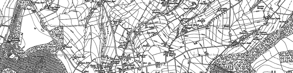 Old map of Whitley Park in 1888