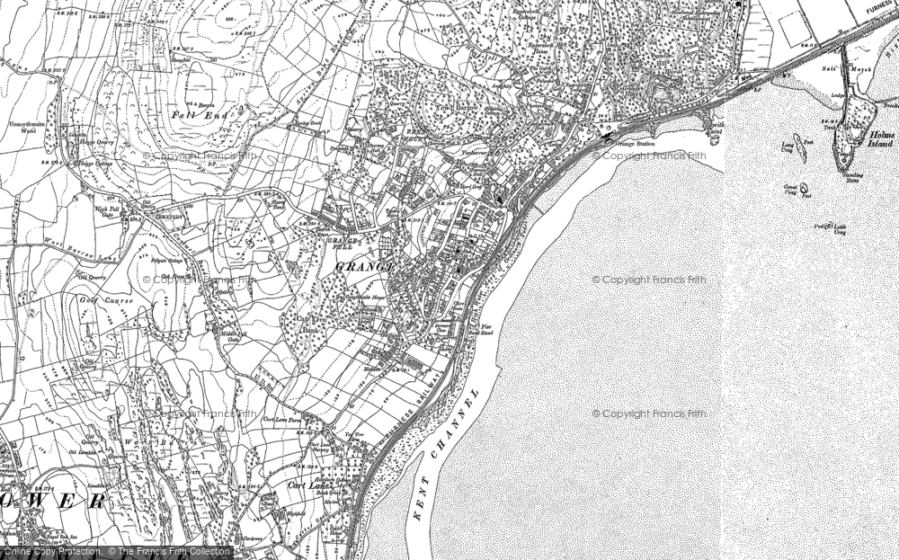 Old Maps Of GrangeOverSands Francis Frith - Old os maps