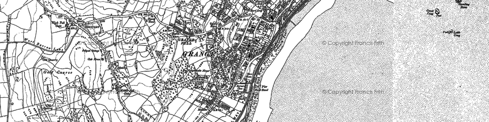 Old map of Grange-Over-Sands in 1848