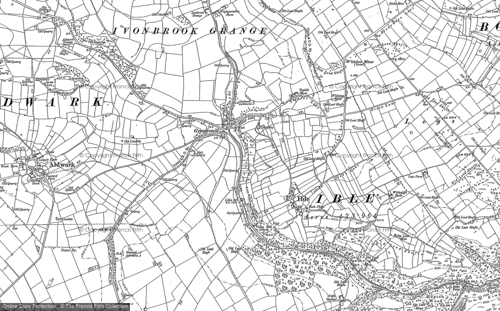 Old Map of Historic Map covering Aldwark in 1879