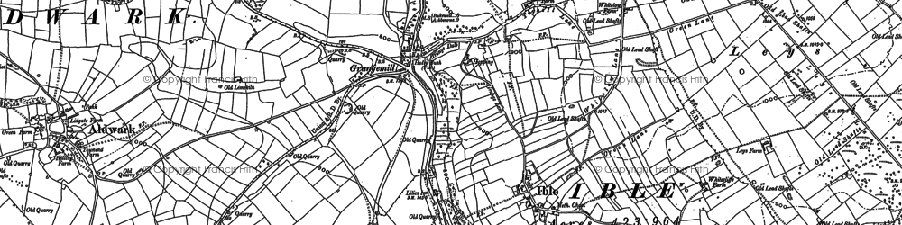 Old map of Aldwark in 1879