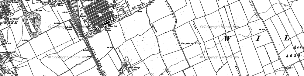 Old map of Grangetown in 1913