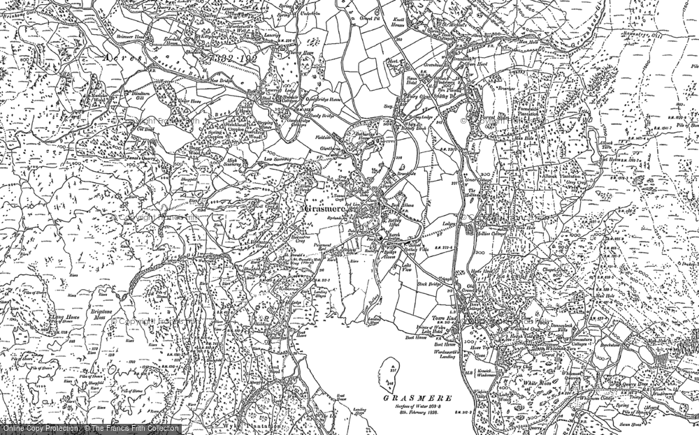 Map of Grasmere, 1897 - 1913