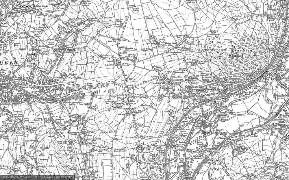 Old Map of Grasscroft, 1904 in 1904