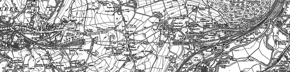 Old map of Grasscroft in 1904